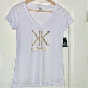 White T-shirt in S size from KardashianCollection